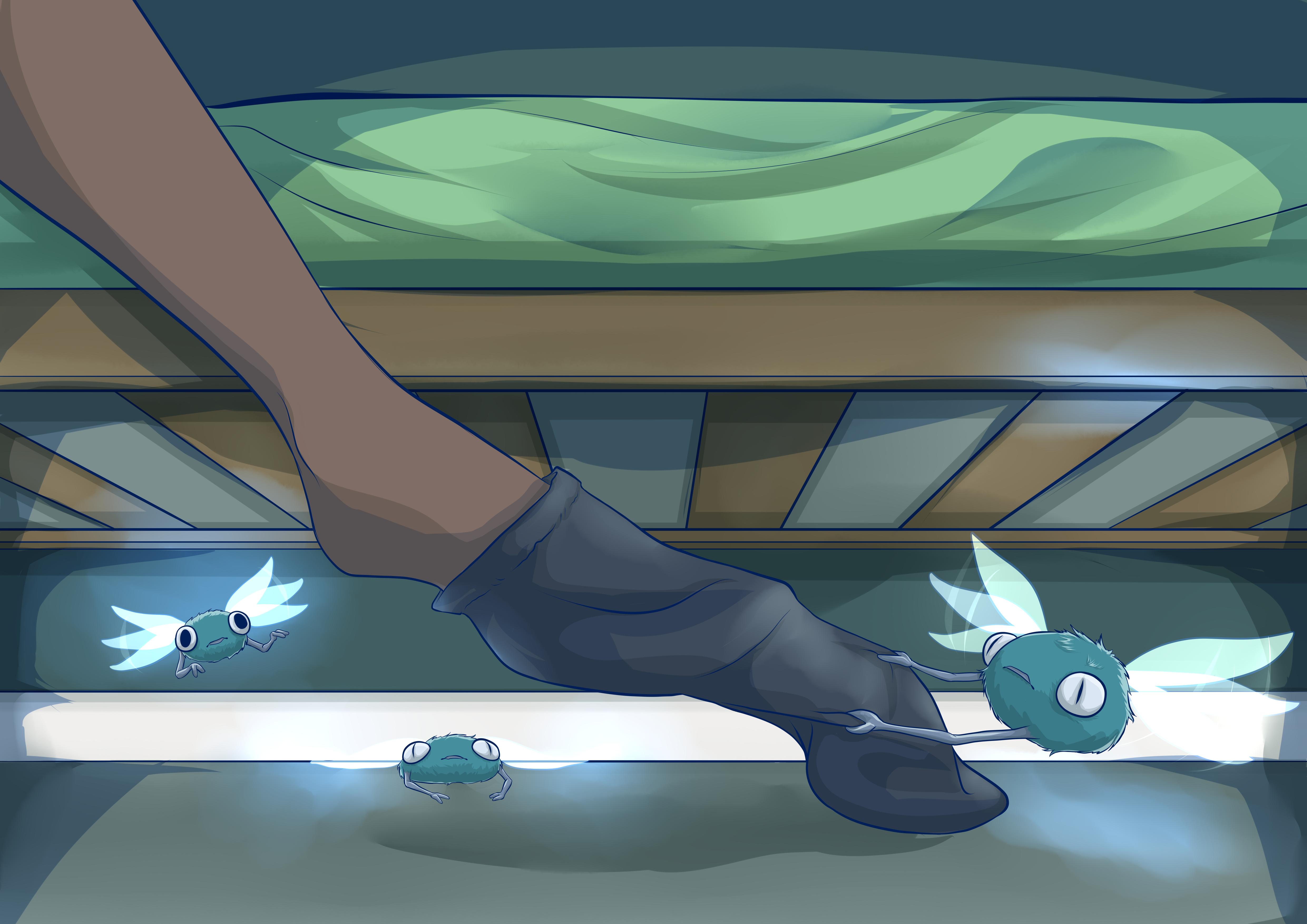Sock Sprites - Under Bed