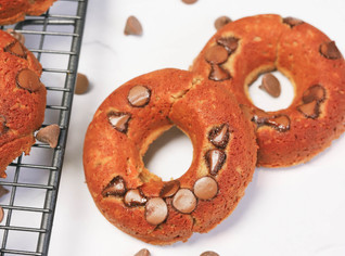 Salted Caramel Protein Donuts