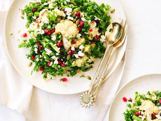 Pomegranate and Cauliflower Grain Salad