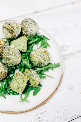 Healthy homemade falafels