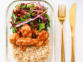 Meal Prep Friendly Thai Chicken and rice bowls