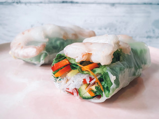 Prawn and Veggie Rice Paper Rolls