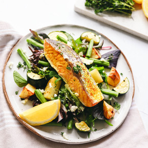 Warm Salmon & Roast Vegetable Salad