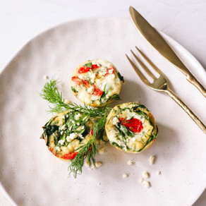 Spinach and Feta Frittata Muffins