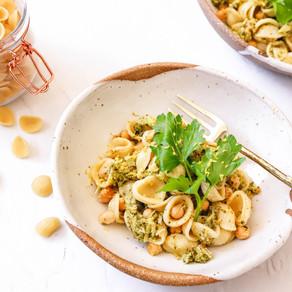 Chickpea and Broccoli Orecchiette Pasta