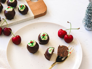 Healthy Christmas Protein Truffles