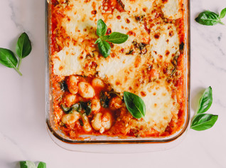 High Protein, Vegetarian Baked Gnocchi