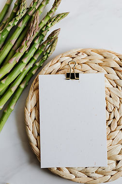 Canva - Asparagus And Blank Paper On Tab
