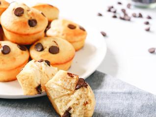 High Protein Choc Chip Muffins