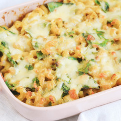 High protein, Vegan, Baked Mac and Cheese