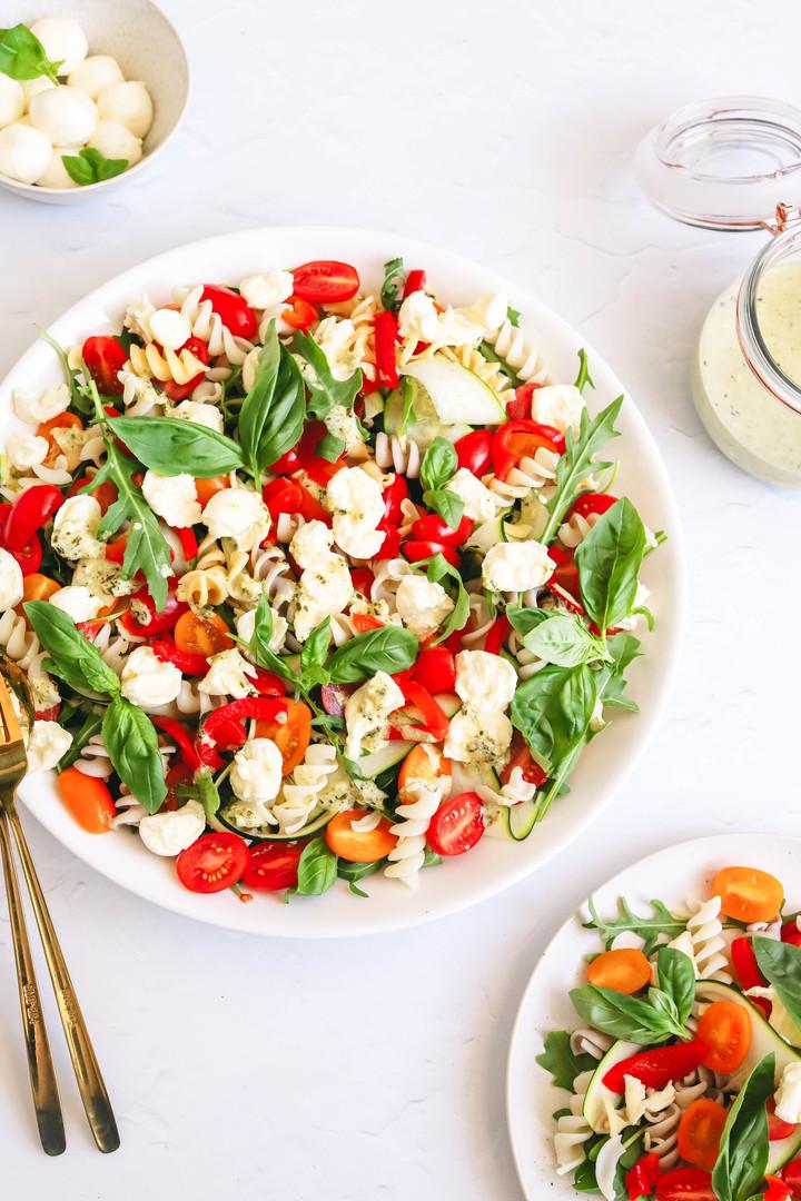 Tomato and Bocconcini Pasta Salad