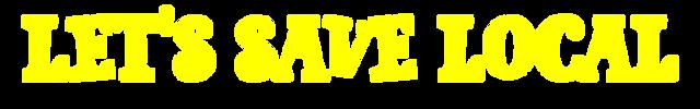 Let's Save Logo Title