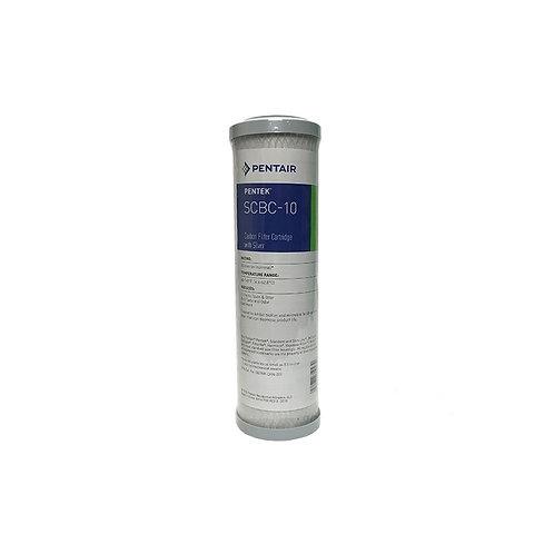 Ανταλλακτικό φίλτρο ενεργού άνθρακα αντιμικροβιακό PENTEK SCBC-10 0,5μm