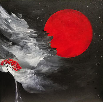 Celestial Sphere Red SOLD