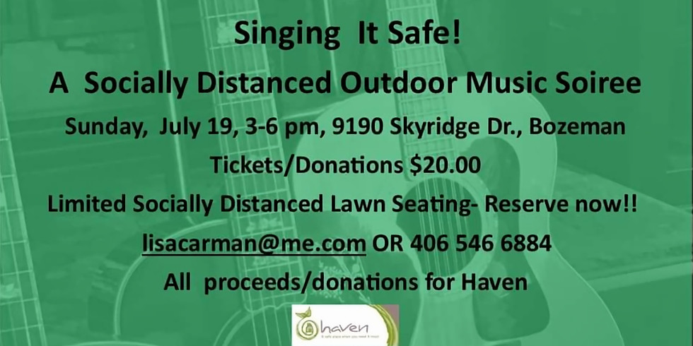 Singing It Safe! A Socially Distanced Outdoor Music Soiree