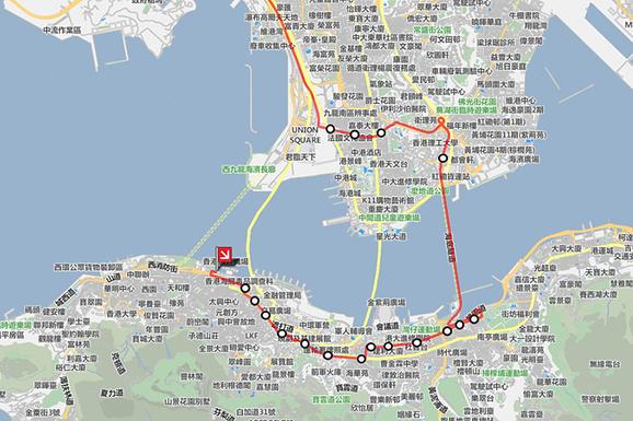 香港機場到佐敦、紅磡、上環、中環、灣仔、銅鑼灣巴士