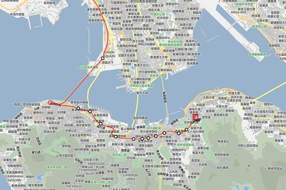 香港機場到上環、中環、銅鑼灣、天后、灣仔巴士