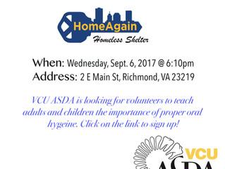 HomeAgain Homeless Shelter Volunteer Event