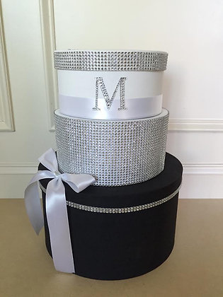 Black and White Card Box Centerpiece