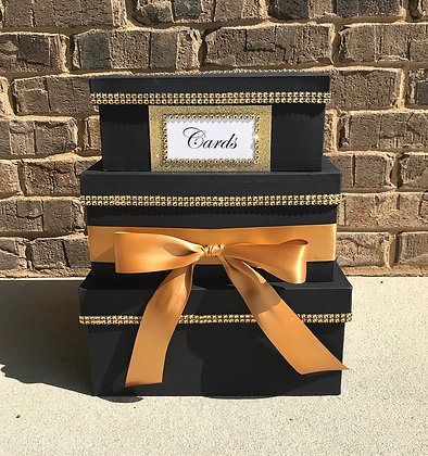 Black Gold Card Box