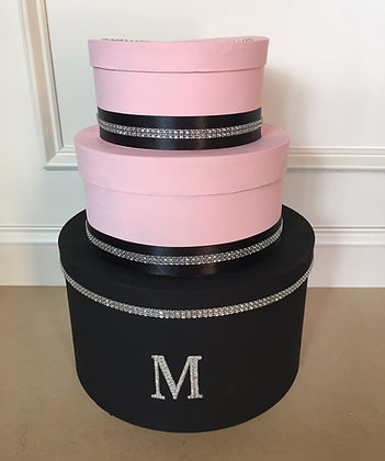 Blush Pink and Black Card Box, Paris Theme Centerpiece, 3 Tier Wedding Card Hold