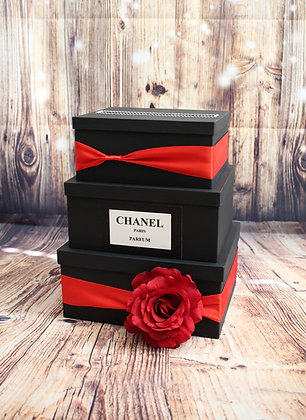 Black and Red Card Box