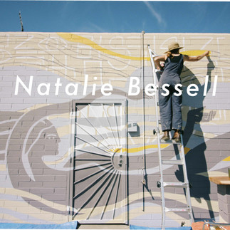 Natalie Bessel working on La Sirena