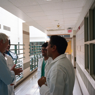 Marc Levin with Sanjay and residents