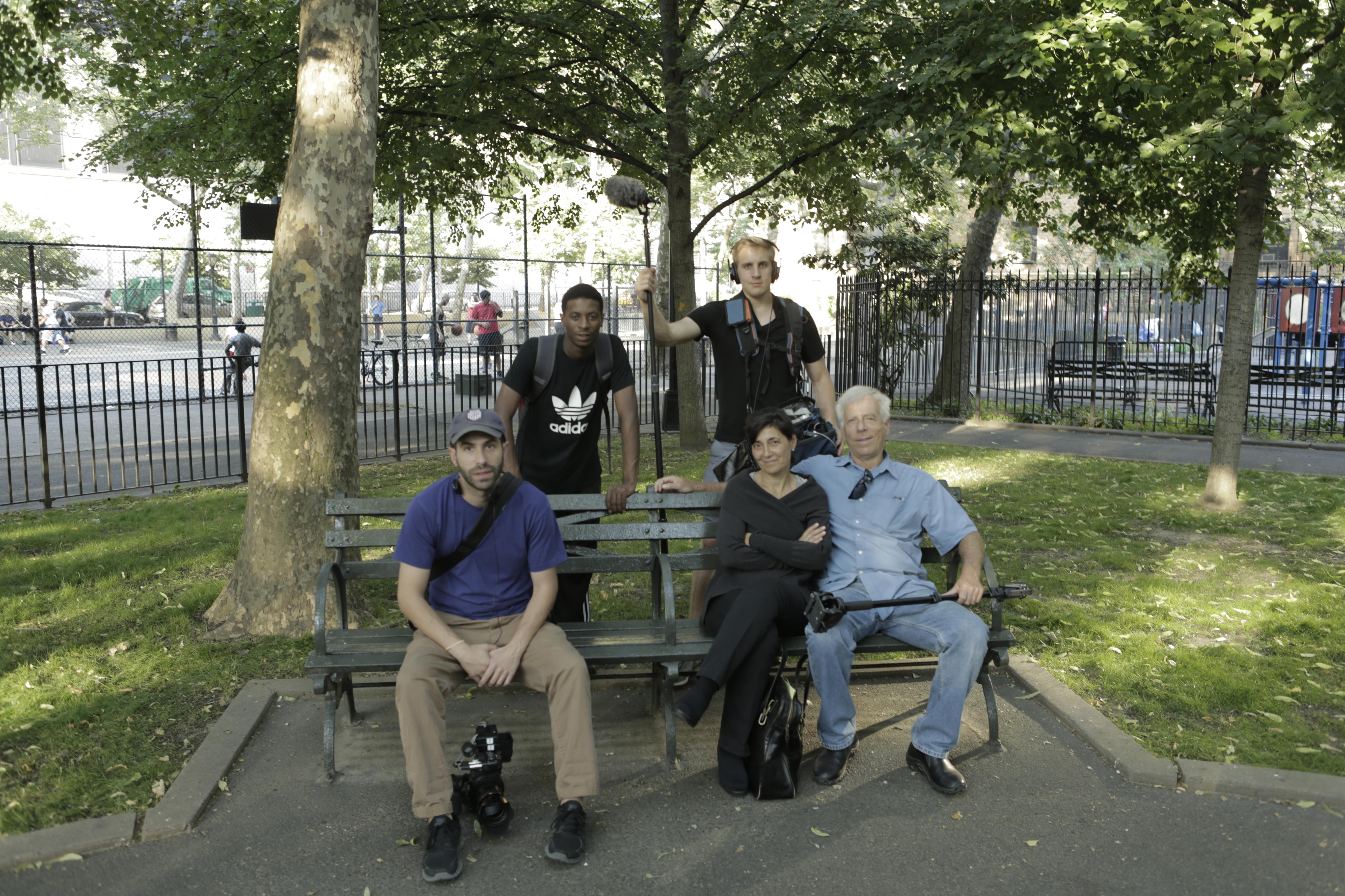 Chelsea crew on bench