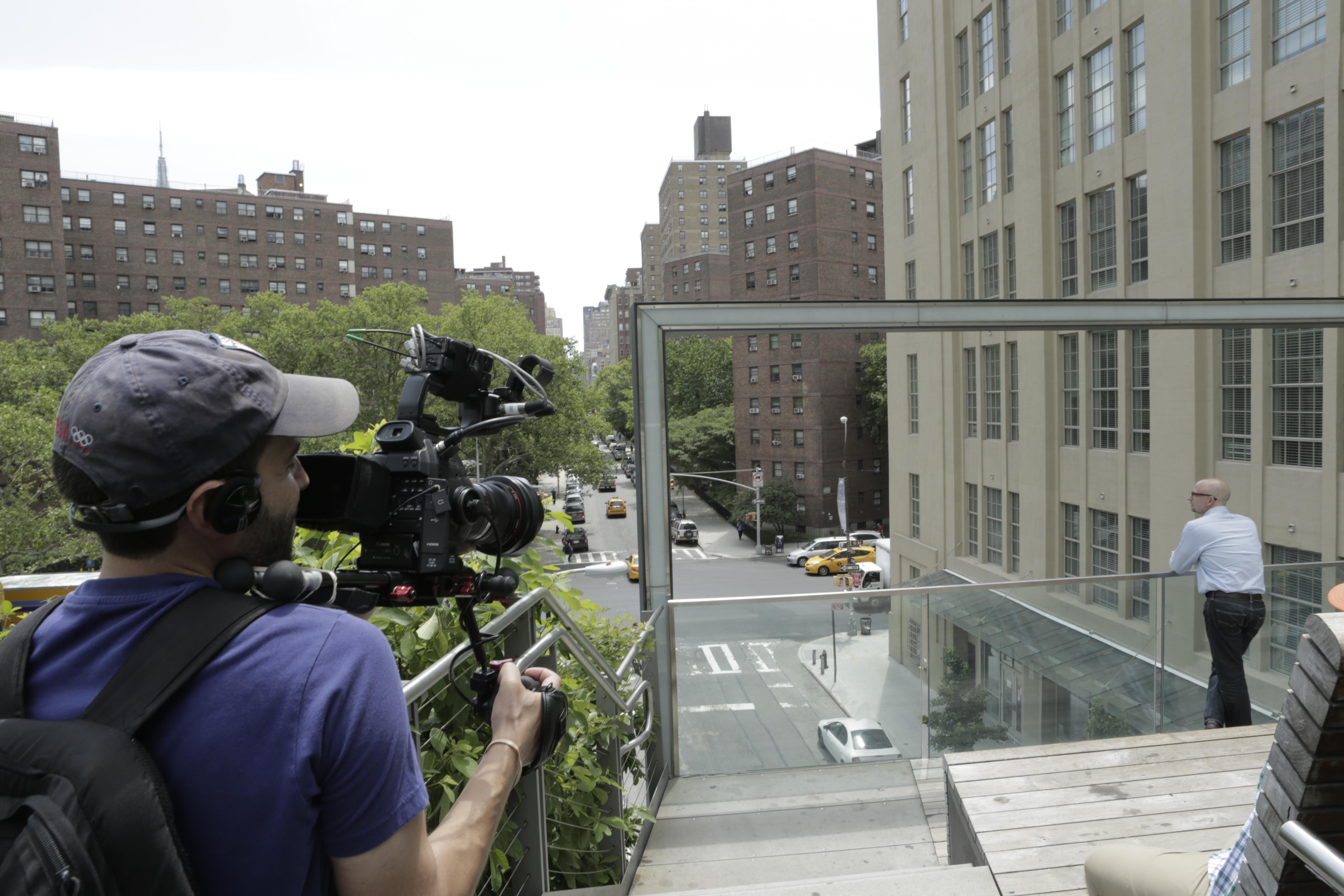 Dan films Josh on the High Line
