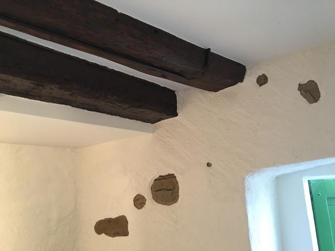 Après: plafond vers l'entrée