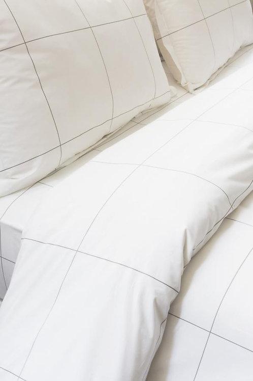 Parure de lit en percale de chez 'Grège'