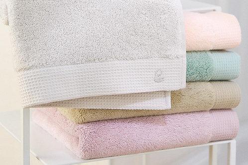Serviette de bain  et gant Astrée, YvesDelorme, blush