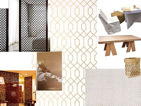 Planche d'ambiance, moodboards