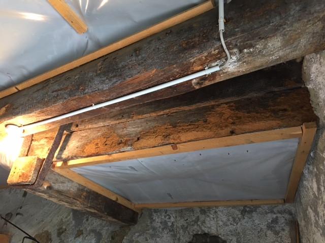 Avant: plafond vers l'entrée