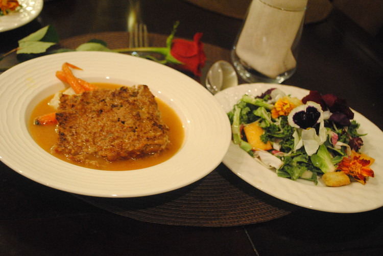 Classic Meatloaf with Glazed Carrots and Brown Onion Gravy
