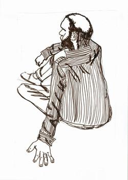 Sitting man