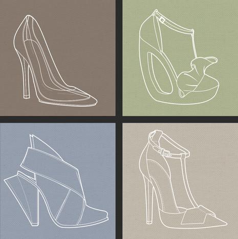 Shoes x 4