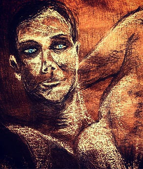 _Your awake intuition_ charcoal drawing