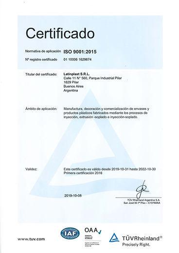 Certificados 9001_2019.periodo 31-10-19