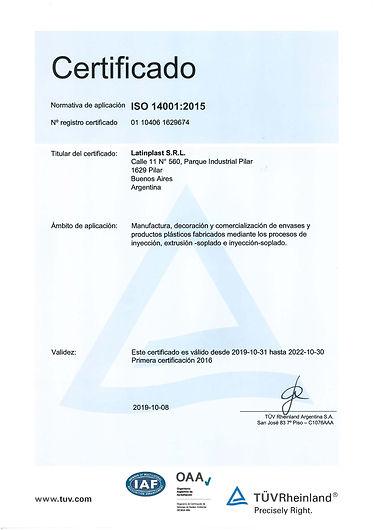 Certificados 14001_2019 periodo 31-10-19