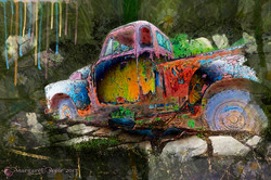 Old Stuck Truck
