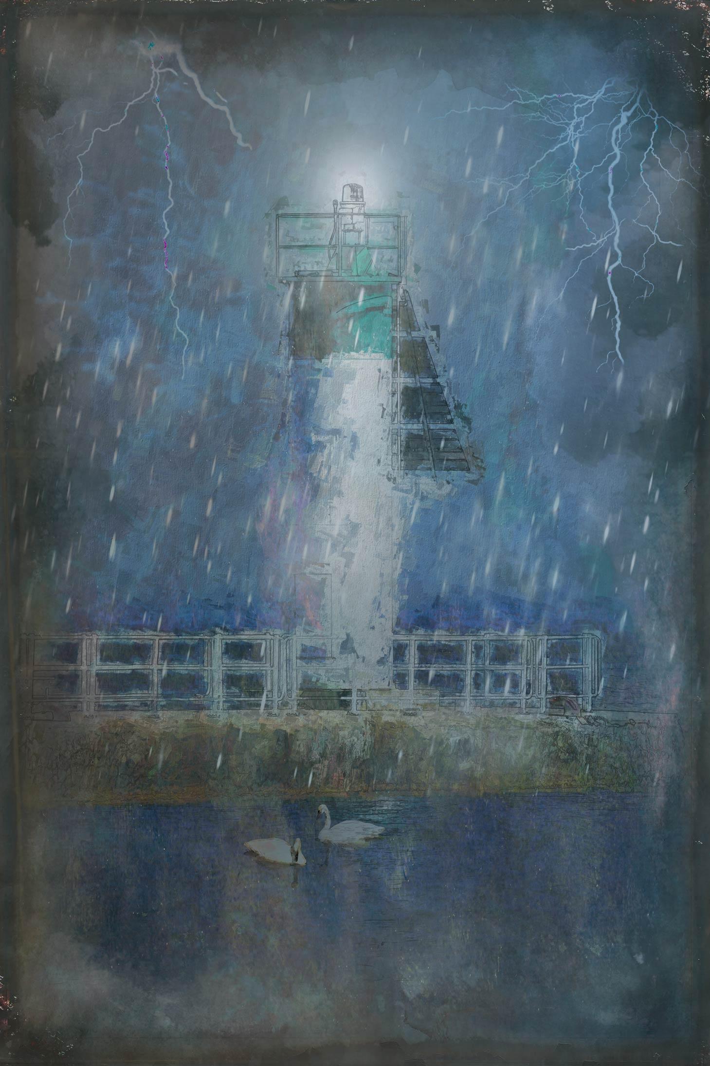 Rain on the Pier