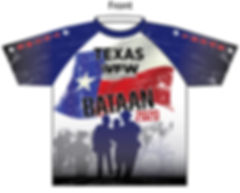 2020 Texas VFW Bataan March shirt FRONT.