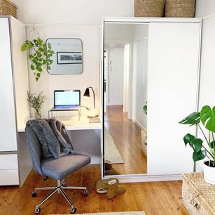 Room design, desk concept + build, styling.