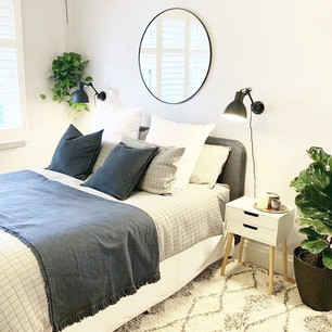 Master bedroom design + installation.