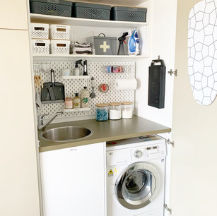 Laundry fit-out and organisation.