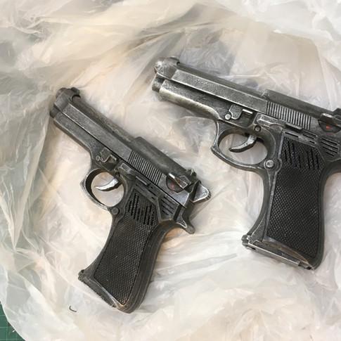 Painted guns