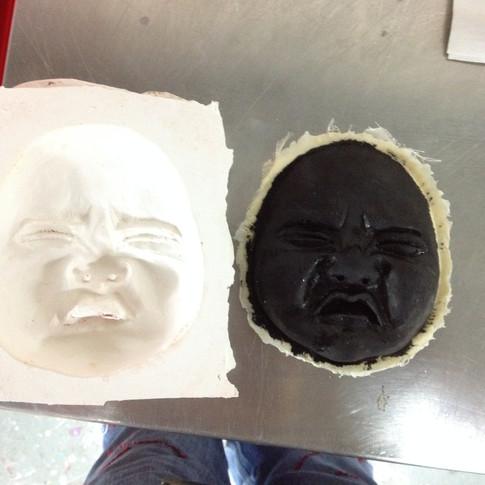 Baby face mold
