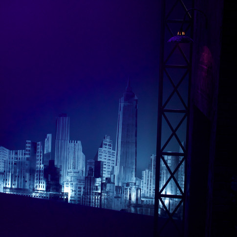 City scape lit up